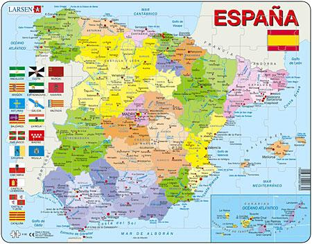 Politische Karte - Spanien