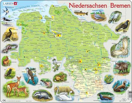 Bundesland Niedersachsen und Bremen physisch
