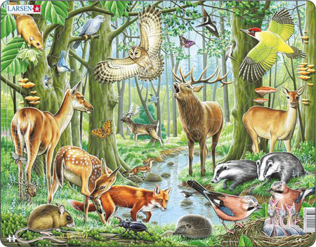 Puzzle tiere im wald