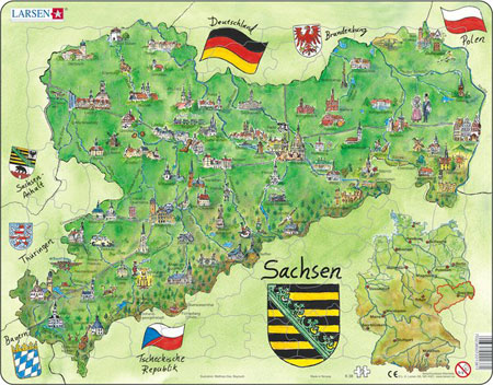 Bundesland Freistaat Sachsen physisch