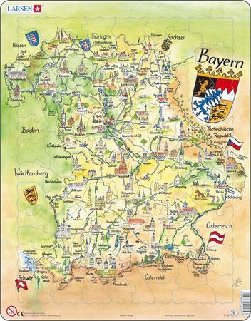 Bundesland Freistaat Bayern physisch