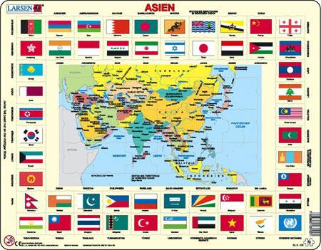 asien-und-flaggen