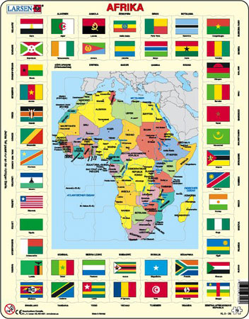 Afrika und Flaggen