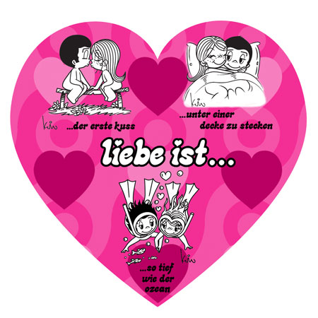 LUPU 1005 Liebe ist  Herzpuzzle