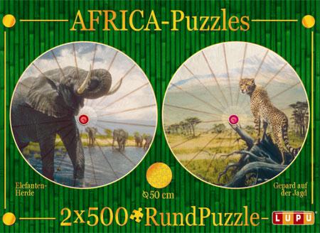 Afrika Gepard und Elefant
