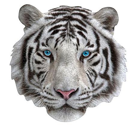 Shape Puzzle  - Weisser Tiger