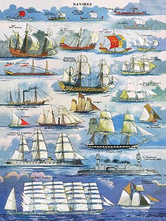 Berühmte Segelschiff - Collage