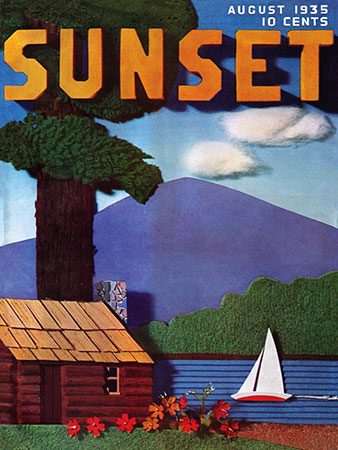 Sunset Magazine Cover - August 1935