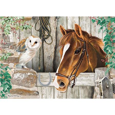 Pferd und Eule