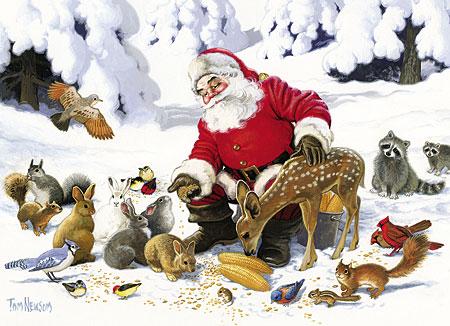 weihnachtsmann-und-seine-tierischen-freunde
