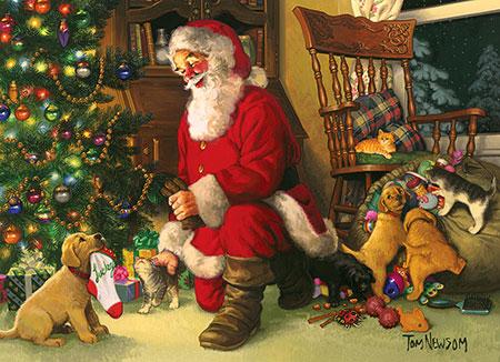 welpe-bringt-den-weihnachtssocken