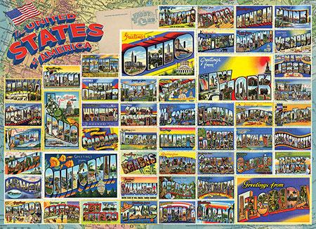Amerikanische Vintage-Postkarten