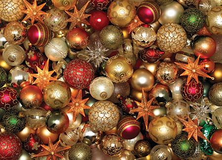 Schillernde Weihnachtskugeln