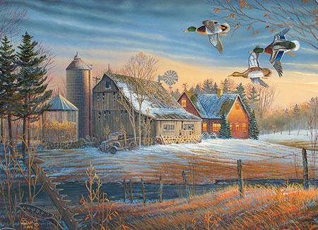 Die Enten ziehen vorbei