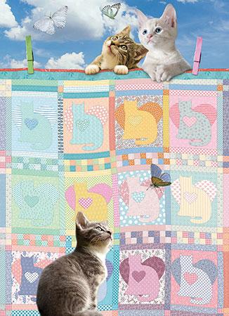 Kätzchen und Quilts