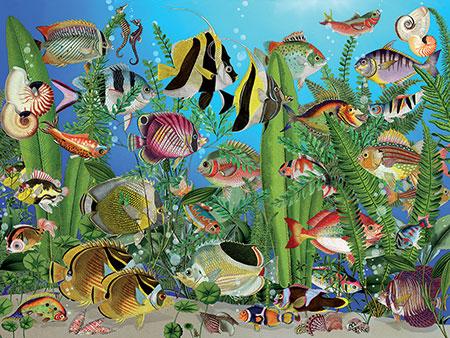 Aquarium-Szene