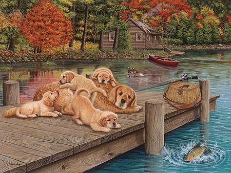 Familienausflug zum See