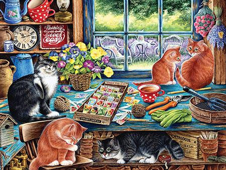 Katzen im Gartenhaus