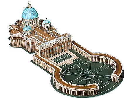 3D-Puzzle Petersdom mit Petersplatz in Rom