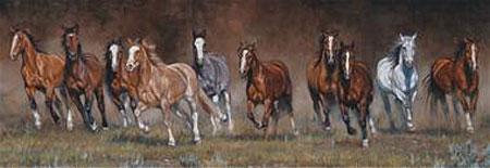 Ausbrechende Pferde