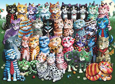 Vereinte Katzenfamilie