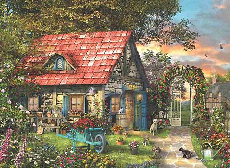 Alte Hütte mit Garten