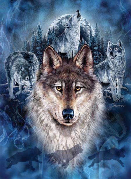 Mystisches Wolfsgeheul