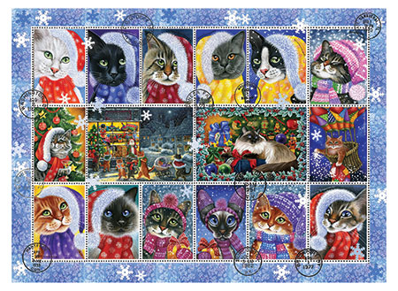 Katzen im Weihnachtsstimmung