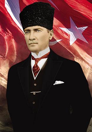 Fotographie von Mustafa Kemal Atatürk