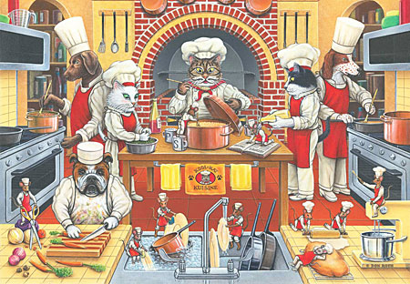 Tiere in der Küche