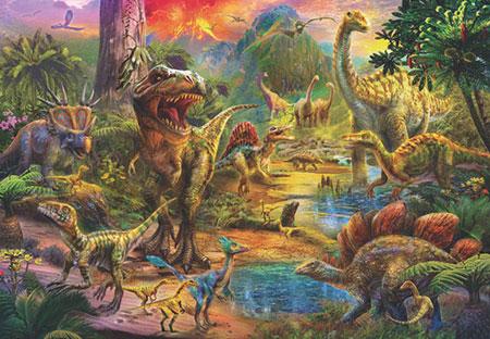 Landschaft der Dinosaurier