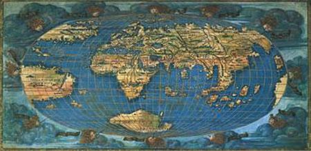 Weltkarte aus dem Jahr 1508