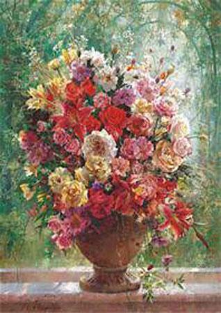 Stillleben Blumenvase