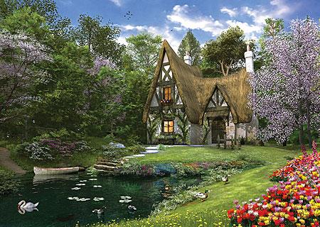 Cottage im Frühling