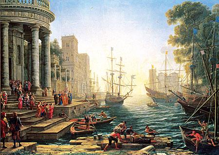 Die Einschiffung der St. Ursula