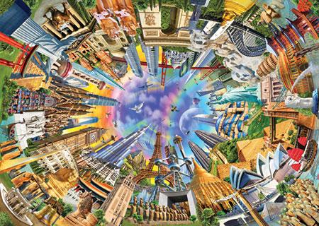 360 Grad Weltblick