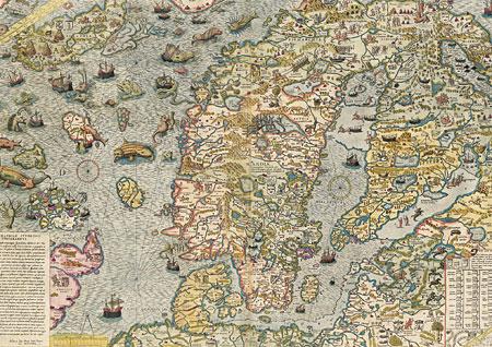 Seekarte von 1572