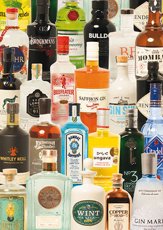 gin-flaschen