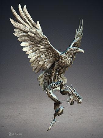 Adler und Drache