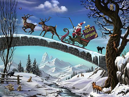 Fröhliche Weihnachten - Puzzle-Offensive
