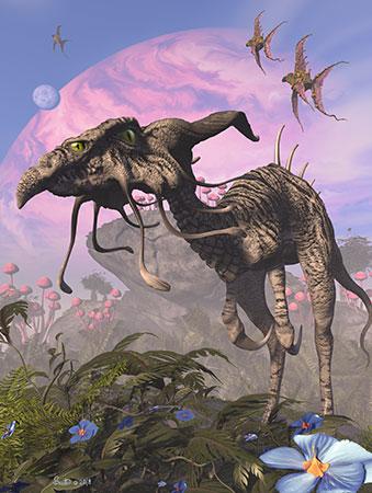 Der Vieraugen-Velociraptor