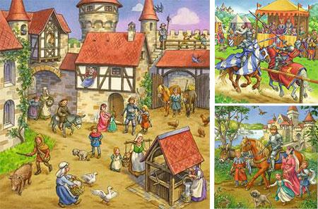 Ritterturnier im Mittelalter