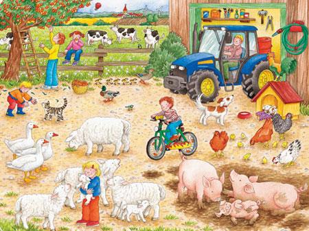 Auf dem großen Bauernhof