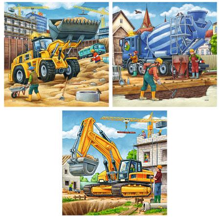 Große Baufahrzeuge