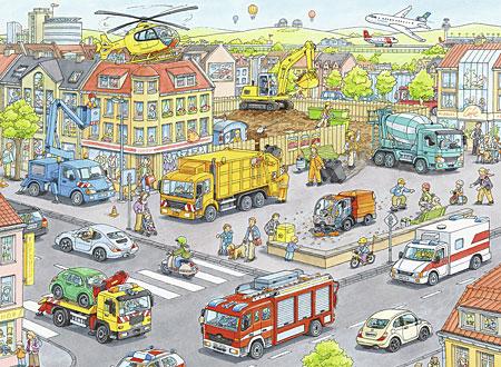 Fahrzeuge in der Stadt