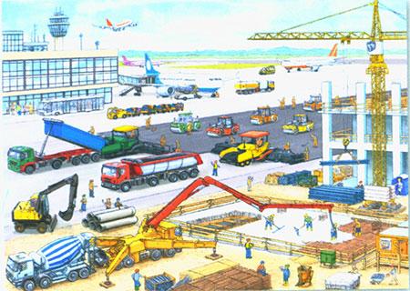 Baustelle am Flughafen