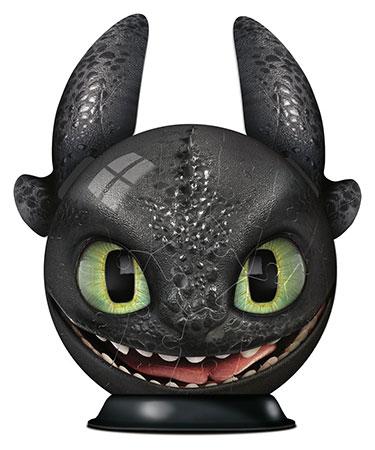 3D Puzzleball - Dragons 3 - Ohnezahn mit Ohren