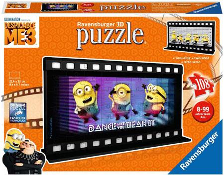 3D Filmstreifen Puzzle - Despicable Me 3