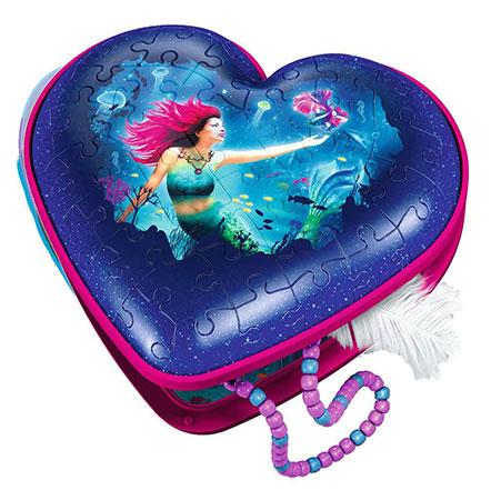 3D Herz - Meerjungfrau