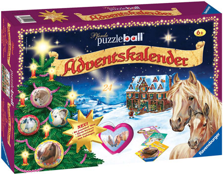 pferde puzzleball adventskalender spiel pferde puzzleball adventskalender kaufen. Black Bedroom Furniture Sets. Home Design Ideas